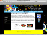 Multimedia Art Web Site